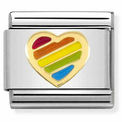 Nomination Italy- Classic, Rainbow heart