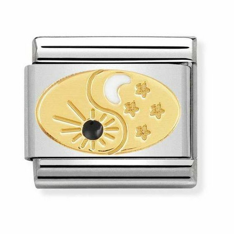 Nomination Italy- Classic gold Cosmo Tao sun and Moon
