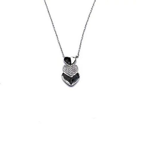 Classic silver- Hearty Pend, hopeakaulakoru