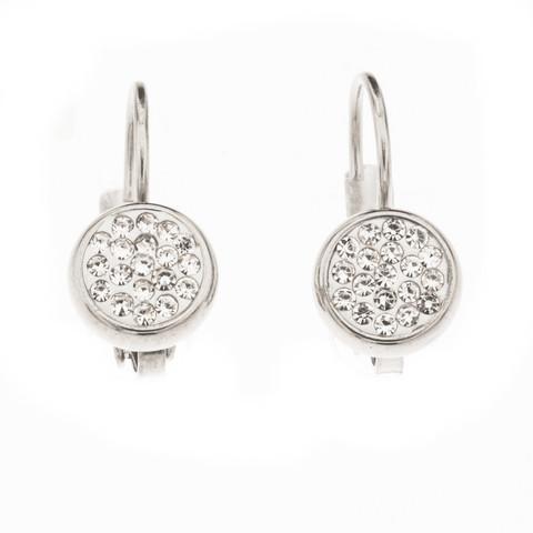 Silver Bar- Miniklipsikoukku crystalcake, hopeakorvakorut