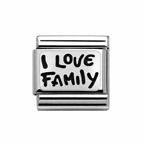 Nomination Italy- Classic,Silvershine. I LOVE FAMILY