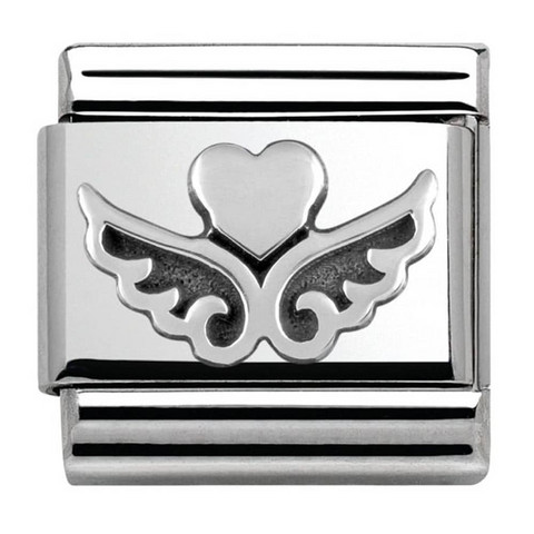 Nomination Italy- Classic, Angel Heart Silver Charm