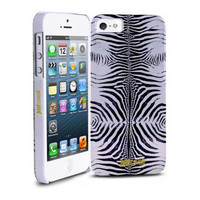 Just Cavalli- Cover Apple iPhone 5 - Zebra Silver