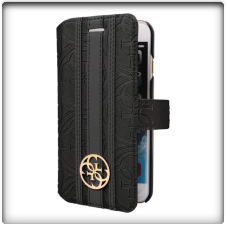 Guess- Universal L Heritage Booklet Case Black