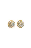 GUESS- CHRYSTAL ROUND EARRINGS, GOLD