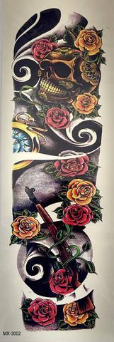 Skull, roses, gun XL