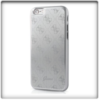 Guess- iPhone 7 Aluminium Hard Cover- Silver