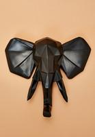 Present Time- Elephant Wall Head 45 cm Origami. Seinäkoriste