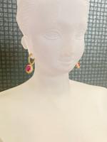 Kohinoor- Timantti- ja rubiini, keltakultaiset korvakorut