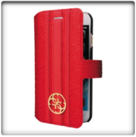 Guess- Universal XL Heritage Booklet Case Red