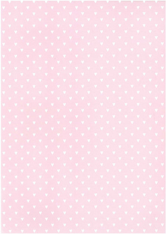 Designkartonki Sydän vaaleanpunainen A4 5/kpl