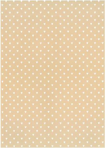Designkartonki Sydän beige A4