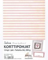 Selina 2-osainen korttipohja, roosaraita