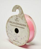 Organzanauha vaaleanpunainen