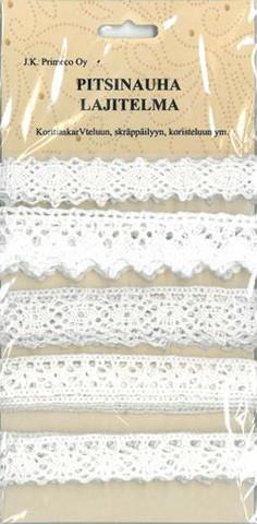 Pitsinauhalajitelma valkoinen