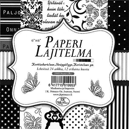 Paperilajitelma mustavalko