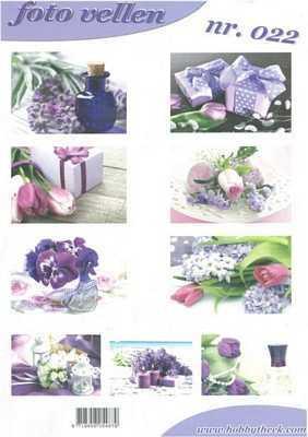 Leikearkki Kukat lila
