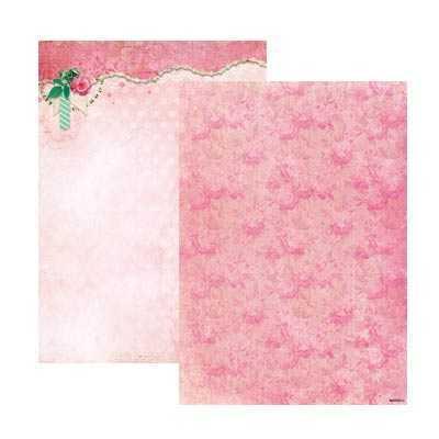 Kaksipuolinen kuvioarkki Ruusu