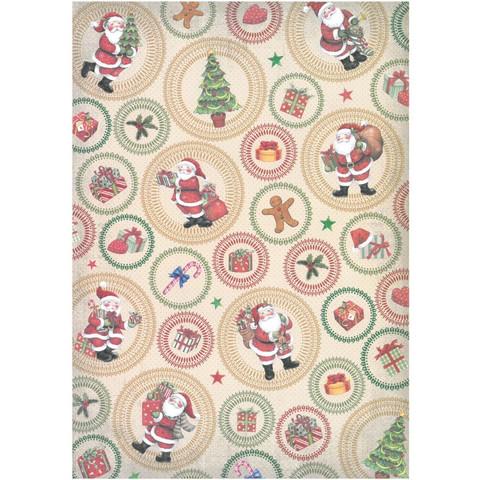 Kuviopaperi  Joulupukki Glitter