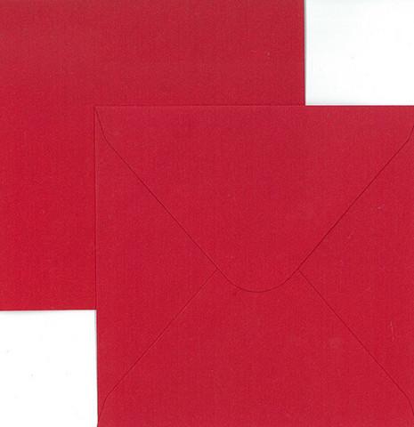 Korttipohja + kirjekuori neliö punainen