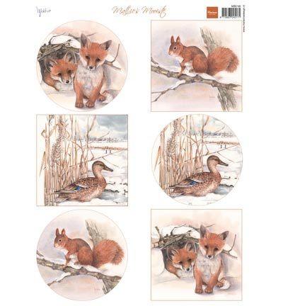 Marianne desing leikekuvat Winter animals-Foxes
