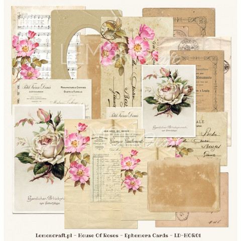 Lemoncraft  House Of Roses Ephemera kortit