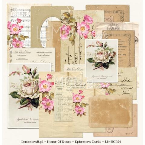 Lemoncraft  House Of Roses Ephemera kortit