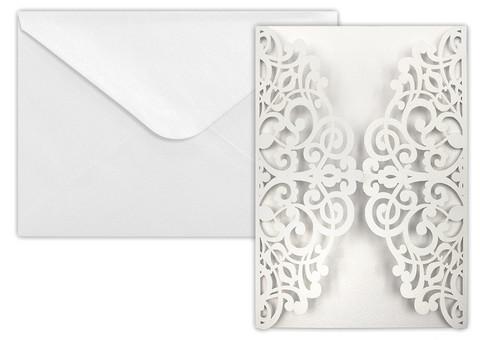 Kortti+kuori Deco helmiäisvalkoinen
