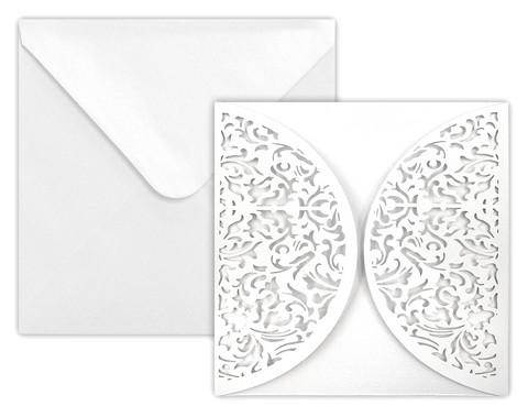 Neliökortti+kuori Deco helmiäsvalkoinen