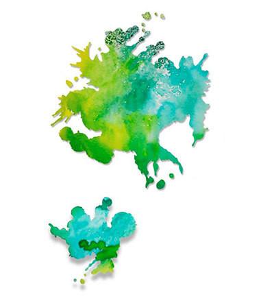 Sizzix stanssi Paint Splats / väriläiskä