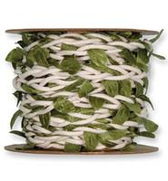 Punosnauhaa Leaves, Valkoinen/vihreä