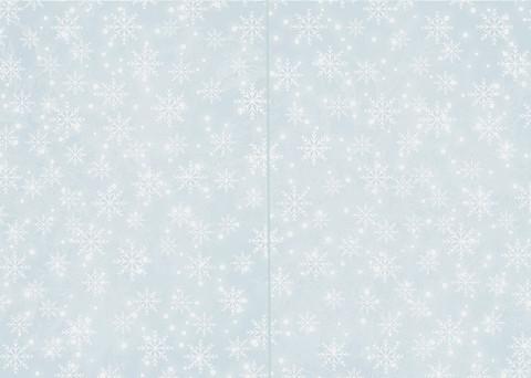 2-os. Korttipohja Lumihiutale vaaleansininen