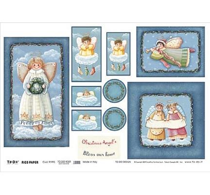 Riisi Paperi 70x50cm  Christmas Angel's
