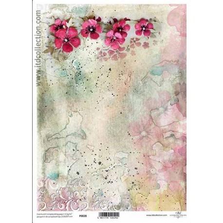 Kaunis kukka pergamenttipaperi A4