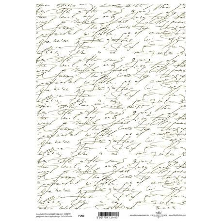 Teksti pergamenttipaperi A4