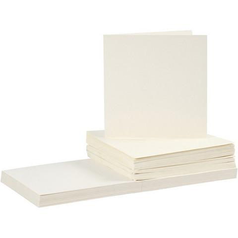 Korttipohjat ja kirjekuoret, luonnonvalkoinen