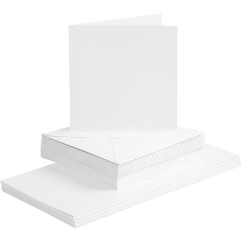 Korttipohjat ja kirjekuoret valkoinen