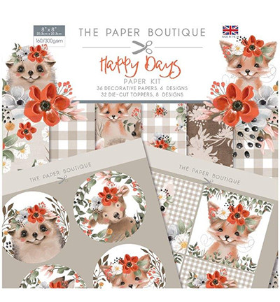 The Paper Boutique - Happy Days Paper Kit /