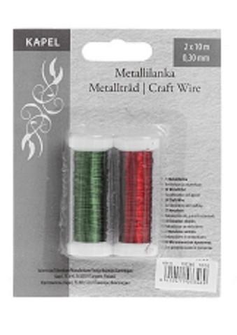 Metallilanka Punainen/Vihreä