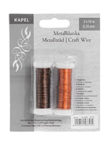 Metallilanka Ruskea/Oranssi
