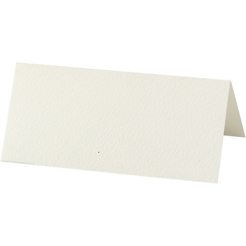 Paikkakortit luonnonvalkoinen
