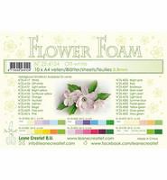 Flower foam sheets  A4, Off Valkoinen