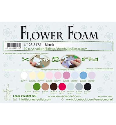 Flower foam 10 kpl A4, musta