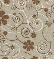 Askarteluhuopa kukkakuosi / beige/ruskea/valkoinen