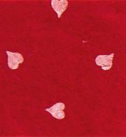 Askarteluhuopa sydänkuosi, tummanpunainen/valkoinen