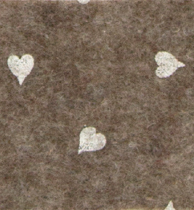 Askarteluhuopa sydänkuosi, ruskea/valkoinen