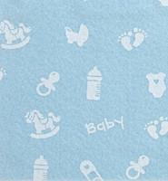 Askarteluhuopa Baby vaaleansininen/valkoinen