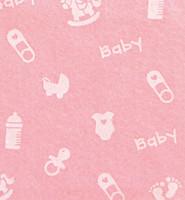 Askarteluhuopa Baby vaaleanpunainen/valkoinen