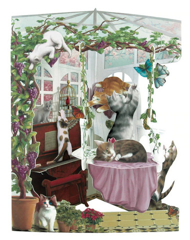 Swing Cards - Cats in Conservatory