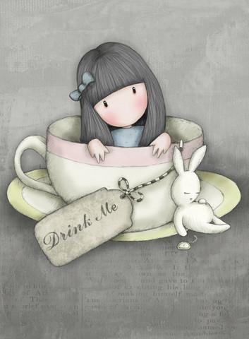 Gorjuss Onnittelukortti -  Sweet Tea